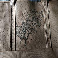 Еко господарська сумка з замочком елегант троянда коричн(спанбонд)