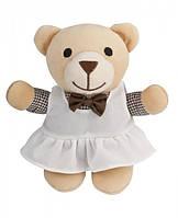 Музыкальная плюшевая игрушка-подвеска Мишка в белом сарафане, Canpol babies