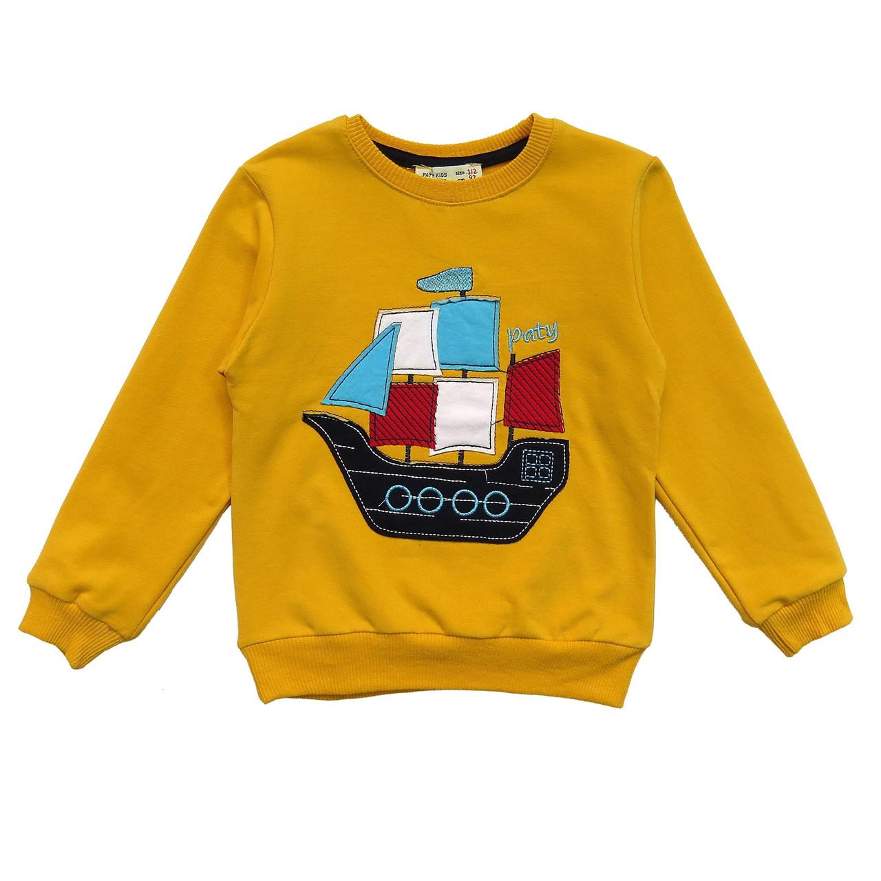 """Свитшот """"Корабль"""" для мальчика."""
