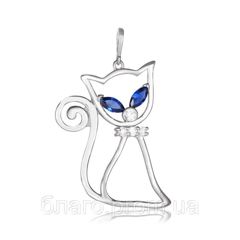 """Срібний кулон """"Кішка"""" 925 проби"""