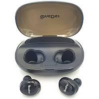 Беспроводные наушники Bluetooth гарнитура OneDer W12 в кейсе черные