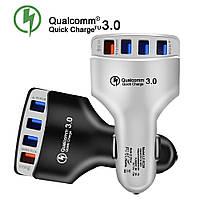 Адаптер Car USB 4 usb QC3.0 LZ-KC08