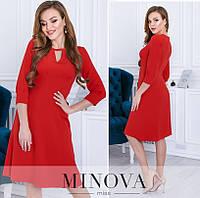 Женское платье №3114 Красный (р.42-48), фото 1