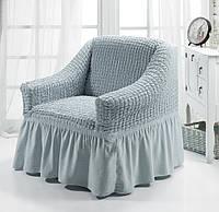 Чехол для кресла серый