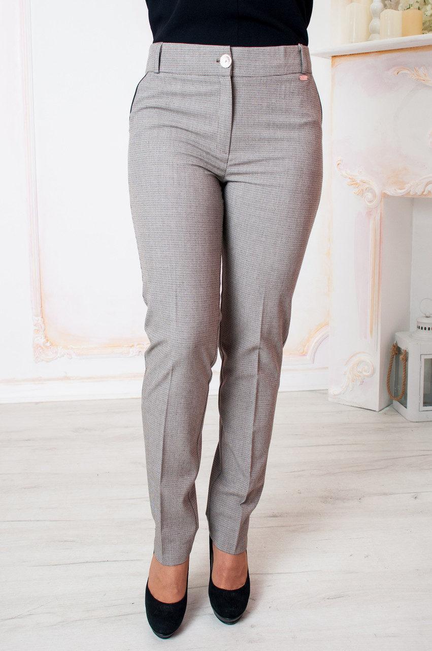 Бежевые укороченные женские брюки