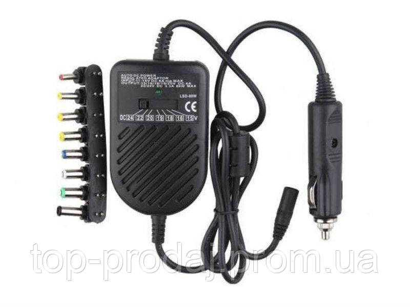 Адаптер 80W Note book car charge, Универсальное автомобильное зарядное для ноутбука, Адаптер зарядка в машину
