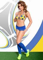 Комплект белья Viktoria желто-голубой ML, фото 1