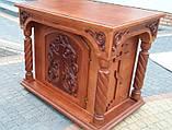 Великий панихидный стіл з дерева під лак, фото 2