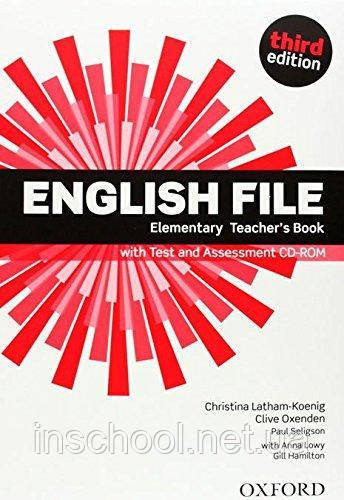 English File Third Edition Elementary Teacher's Book with Test and Assessment CD-ROM ISBN: 9780194598743