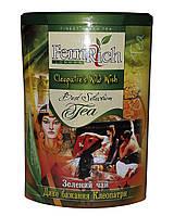 Чай зеленый с земляникой и лепестками цветов FemRich Дикое желание Клеопатры 200 г в металлической банке