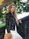 Черная кожаная куртка Турция, фото 2