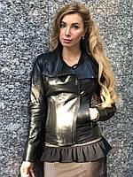 Черная кожаная куртка Турция, фото 1