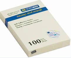 Блок бумаги для заметок липкий слой Buromax 51x76мм 100л желтый BM.2311-01