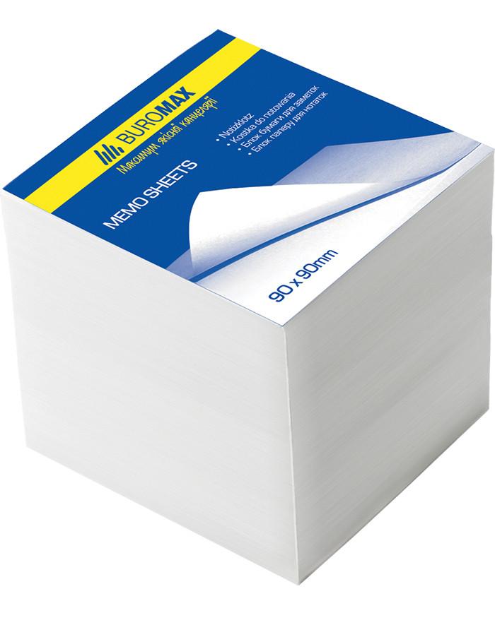 Блок бумаги для заметок непроклеенный Buromax 90х90х50мм белый BM.2215