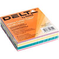 Блок бумаги для заметок непроклеенный Axent 80x80x20мм ассорти цветов D8021