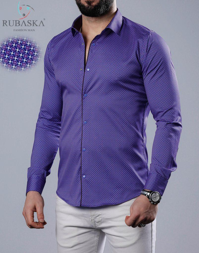 9d89b75cf07 Стильная мужская рубашка с цветными манжетами  продажа
