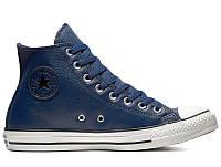Мужские кеды Converse Chuck Taylor All Star Tumbled Leather HI 161495C 42  Синие (29269- 9951f4017e1ff