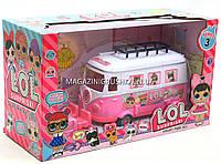 Кукла ЛОЛ L.O.L. игровой набор для девочек АВТОБУС, 2 куколки, мебель (ЛОЛ аналог)  tm855B