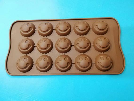 Форма силиконовая для конфет Смайлики, фото 2