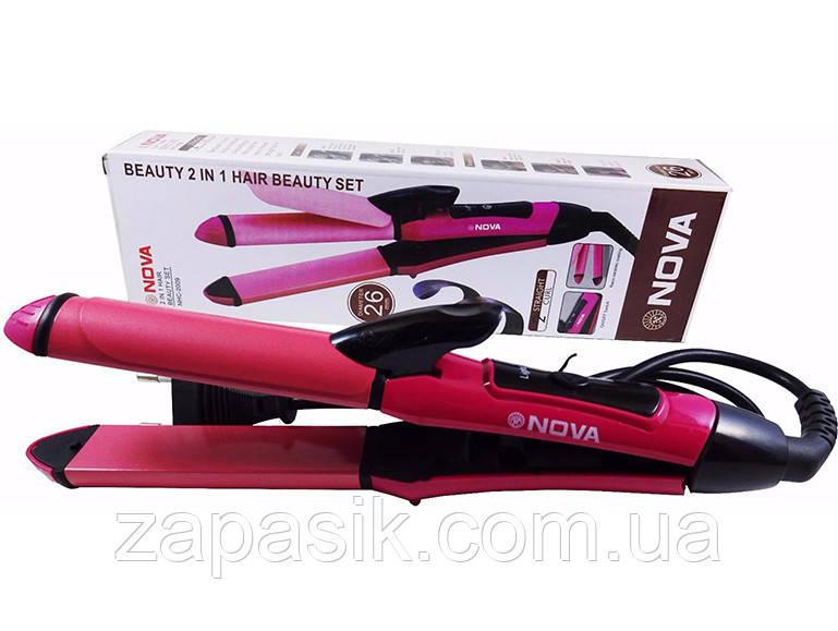Плойка Утюжок 2 in 1 Hair Beauty Set Nova Выпрямитель Волос NHC2009