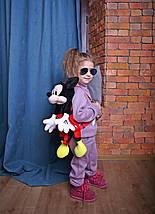 Детский прогулочный костюм из трикотажа для девочки сиреневый, фото 3