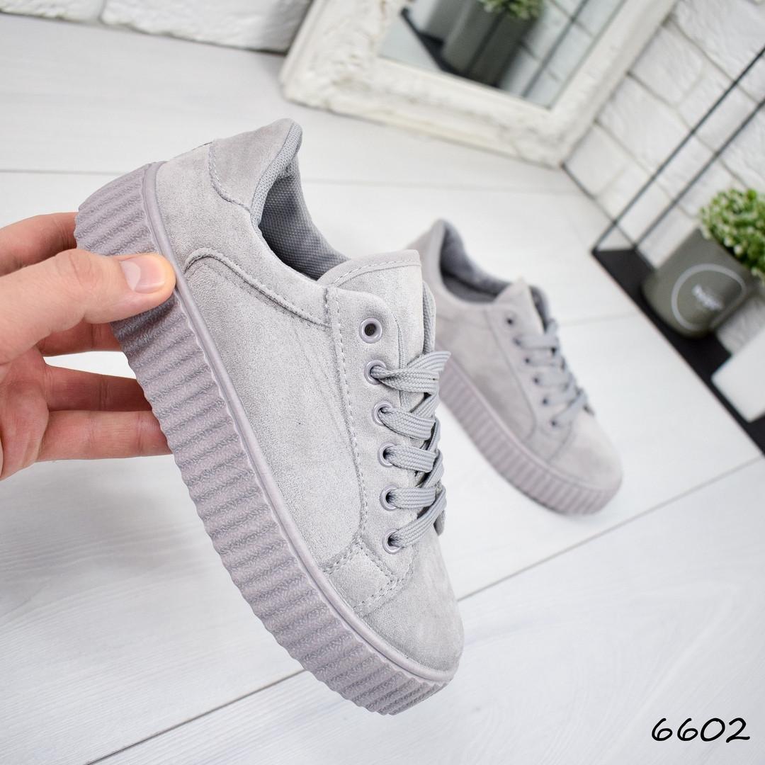 3e8826e7885c4 Кроссовки криперы Jefrey серые , женская обувь - Интернет-магазин