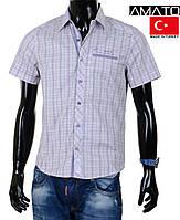 Рубашка клетка с коротким рукавом