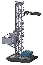 Н-83 м, г/п 1000 кг. Мачтовые Строительные подъёмники для подачи стройматериалов. Строительный подъёмник, фото 2