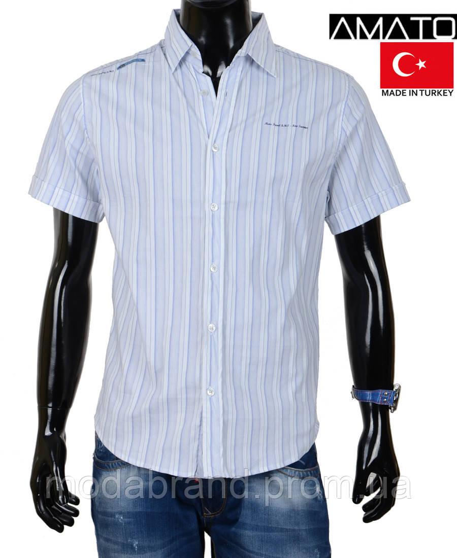 0eae29e92d1 Мужская рубашка короткий рукав. Качество. Хлопок. Большие размеры. Мужская  рубашка в полоску