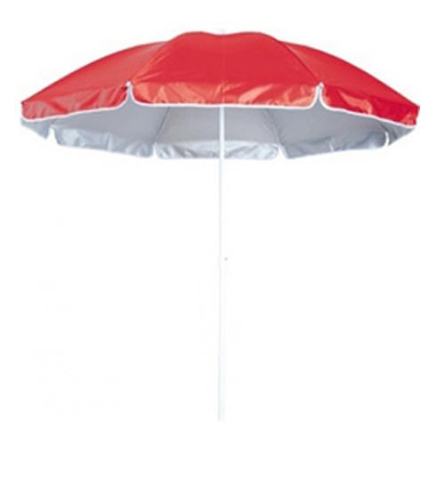 Зонт пляжный, торговый, диаметр 3 метра, с серебряным напылением, 16 спиц из пластика