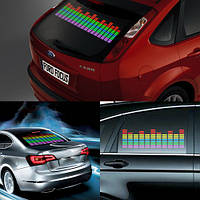 Эквалайзер на стекло авто, светомузыка, 45х11 см   код: 10.02499