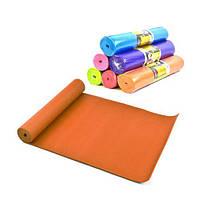 Коврик для йоги, 6 мм (оранжевый) C34472