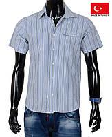 Оригинальная мужская рубашка с коротким рукавом.