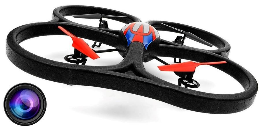 Квадрокоптер большой на радиоуправлении 2.4ГГц WL Toys V333 Cyclone 2 с камерой - 139810, фото 1