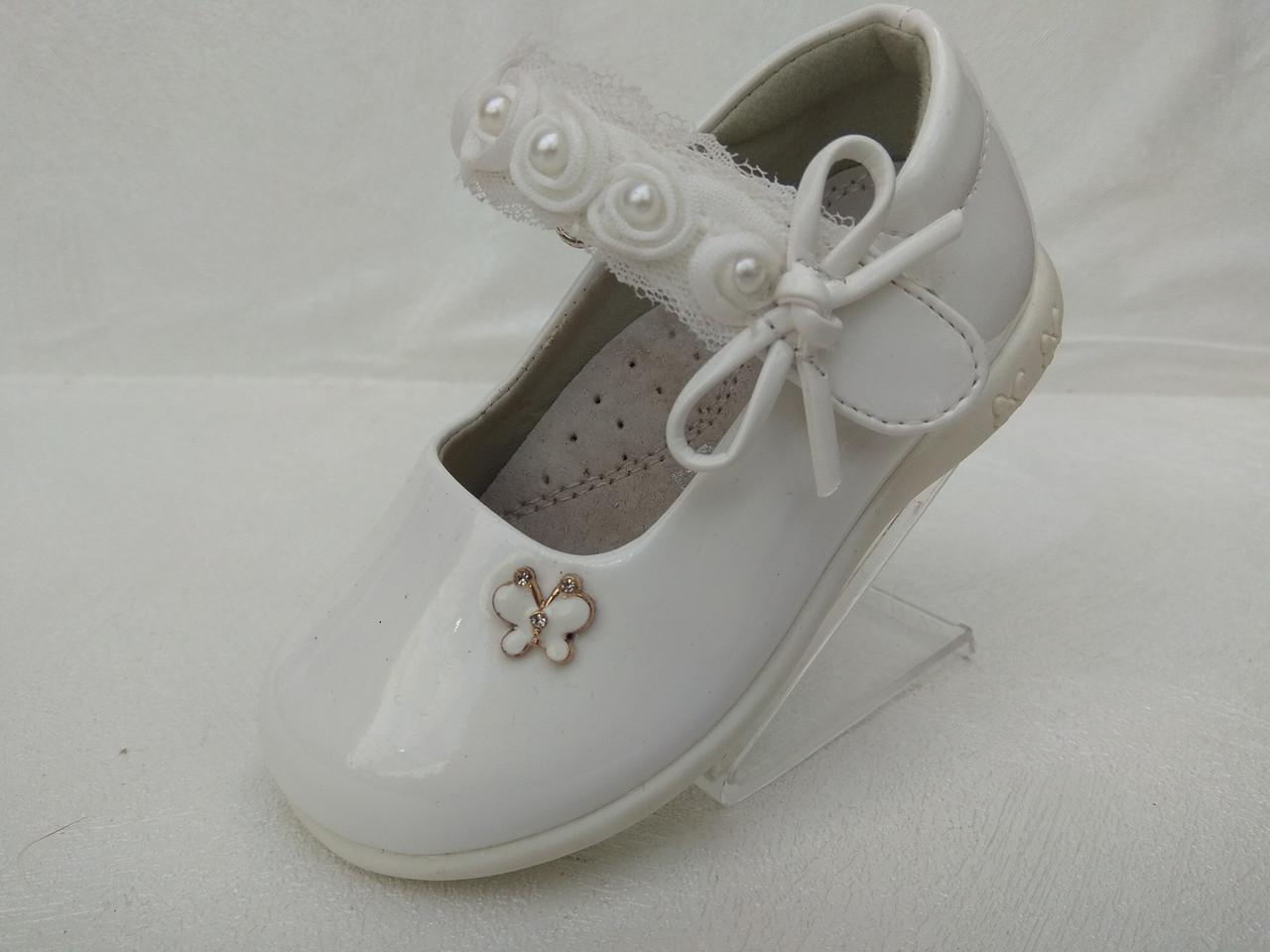 Туфли для девочки оптом Apawwa D37 white (р.21-26) - Оптовый 56a55773fc821
