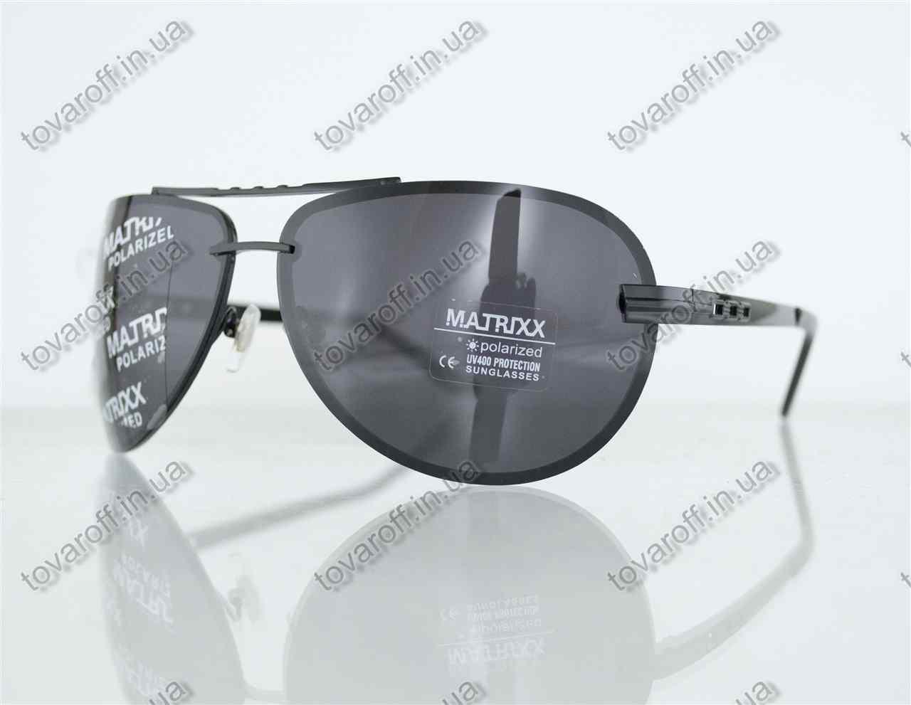Очки унисекс сонцезащитные поляризационные Авиатор (Aviator) - Черные - P08212