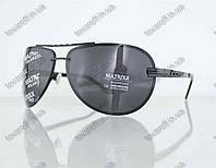 Оптом очки унисекс сонцезащитные поляризационные Авиатор (Aviator) - Черные - P08212, фото 1