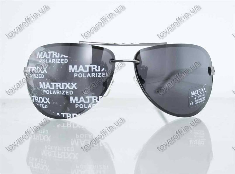 Оптом очки унисекс сонцезащитные поляризационные Авиатор (Aviator) - Стальные - P08212, фото 2