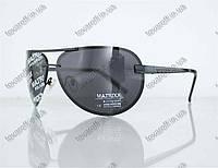 Оптом очки унисекс сонцезащитные поляризационные Авиатор (Aviator) - Черные - P08211, фото 1