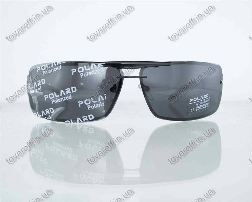 Очки мужские сонцезащитные поляризационные - Черные - P07001, фото 2