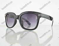 Очки унисекс солнцезащитные в стиле Вайфарер (Wayfarer) - Черные - 54082, фото 1