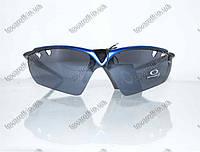 Оптом очки мужские солнцезащитные спортивные Oakley (Окли) - Черно-синие - 9135, фото 1