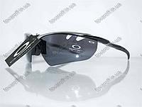 Оптом очки мужские солнцезащитные спортивные Oakley (Окли) - Черно-серые - 9134, фото 1