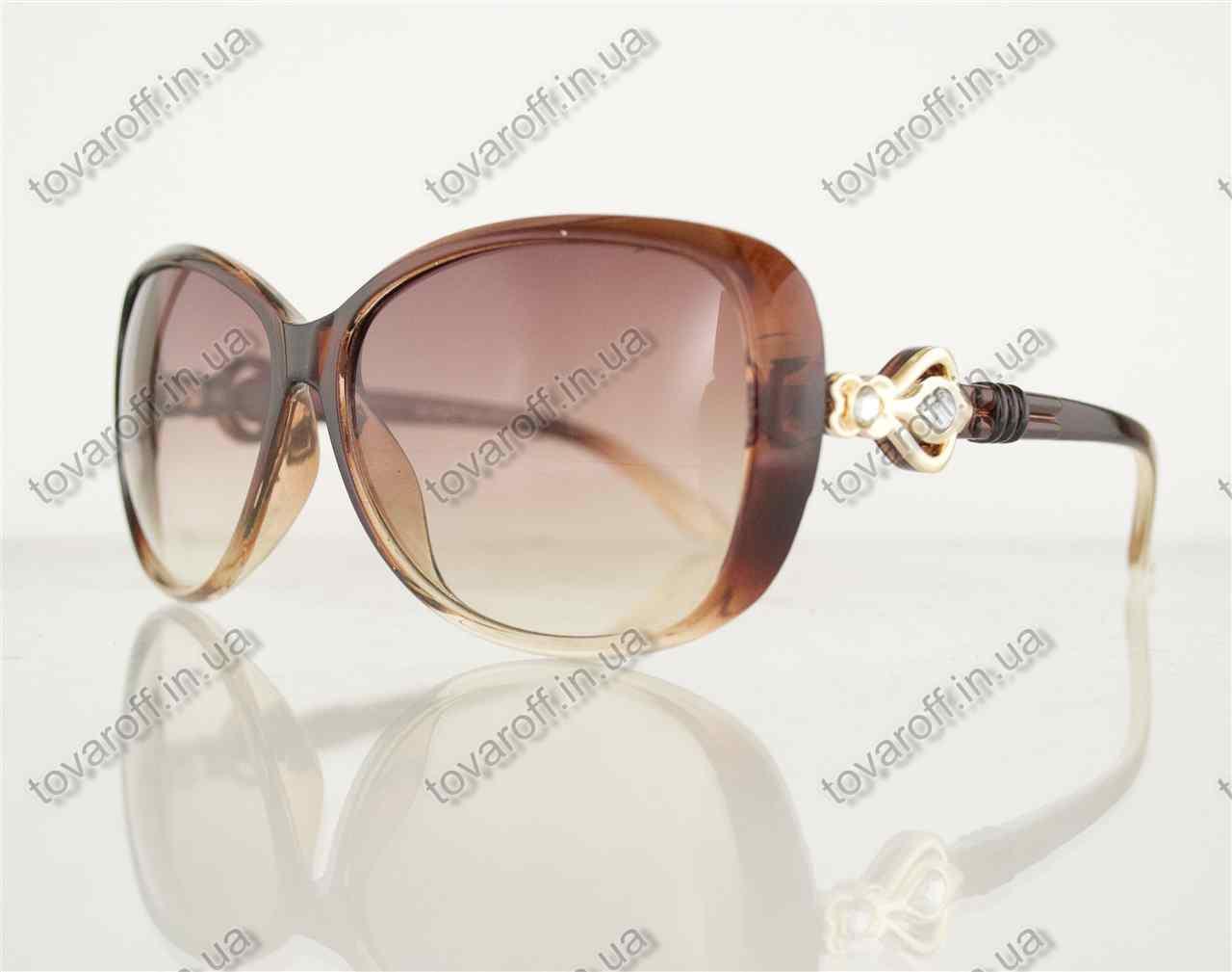 Оптом очки женские солнцезащитные - Коричневые - 8822