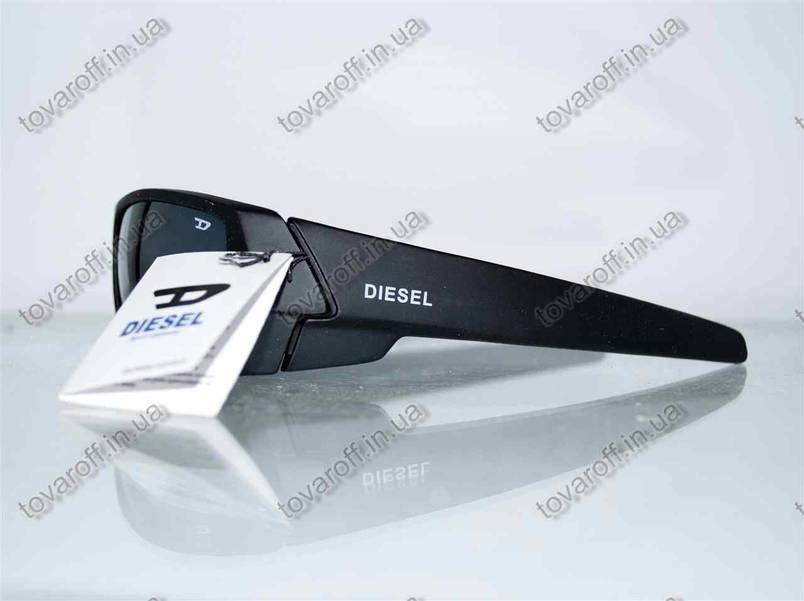 Очки мужские солнцезащитные спортивные Diesel (Дизель) - Черные - 5877, фото 2