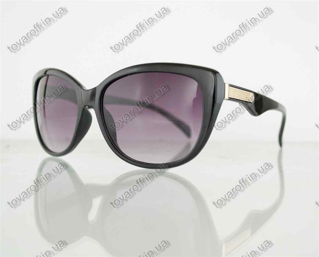Оптом очки женские солнцезащитные - Черные - 5863