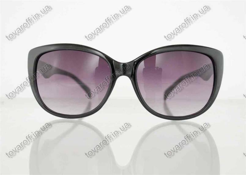 Оптом очки женские солнцезащитные - Черные - 5863, фото 2