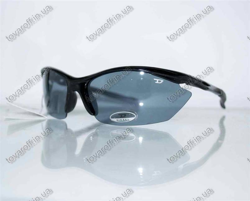 Оптом очки мужские солнцезащитные спортивные Diesel (Дизель) - Черные - 5816, фото 2