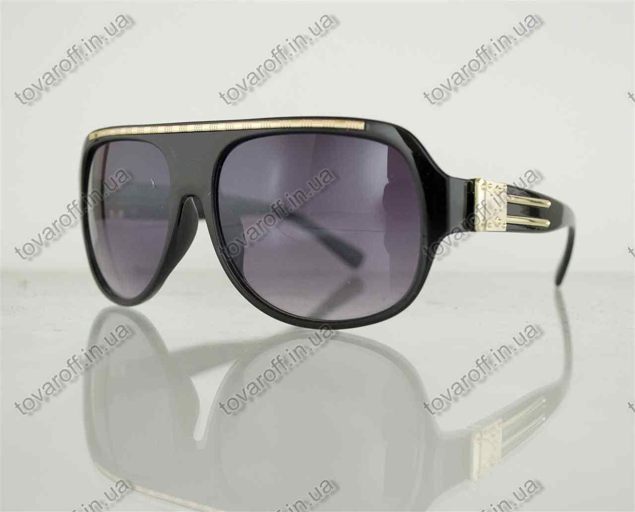 Оптом очки унисекс солнцезащитные - Черные - 1098