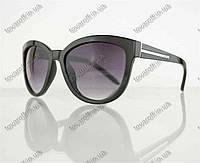 Оптом очки унисекс солнцезащитные в стиле Вайфарер (Wayfarer) - Черные - 1016, фото 1